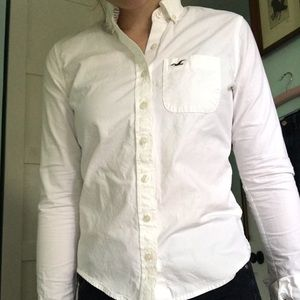Hollister white button up